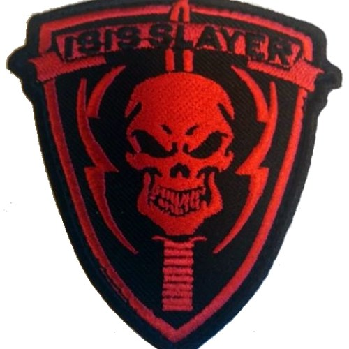 Isis Slayer velcro patch rood