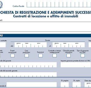 Istruzioni Modello Rli Registrazione Contratti Affitto