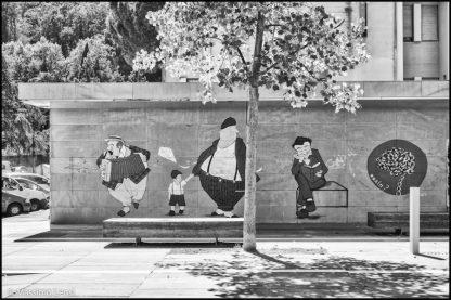 Un murales nella piazza di Sorgane, Firenze. © Massimo Lensi