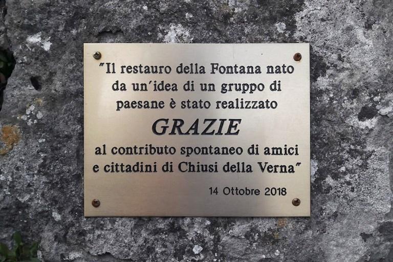 fontana del campari - Associazione ProgettoIdea Chiusi della Verna