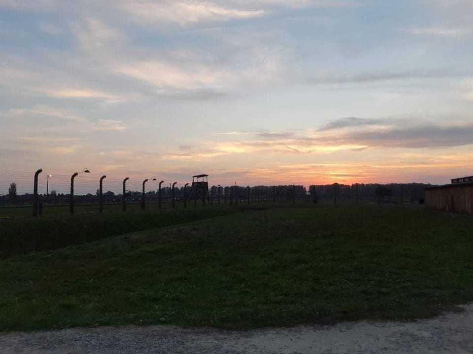 sunset in Birkenau