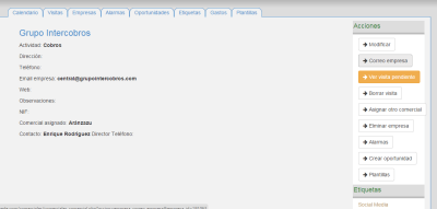 CRMfacil: enviar correo electrónico con CRM