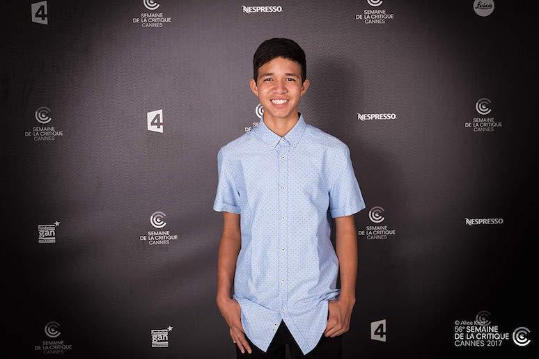 Reggie Reyes, año y medio después de terminado el rodaje en la Semaine de la Critique del Festival de Cannes 2017. © Alice Khol.