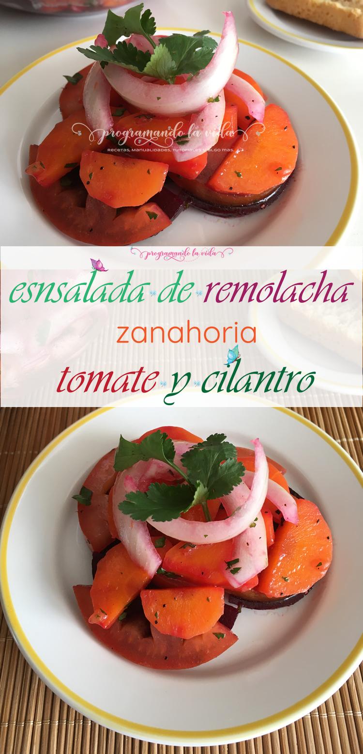 Ensalada De Remolacha Zanahoria Tomate Y Cilantro Programando La Vida Este delicioso bizcocho de remolacha y zanahoria que os proponemos en recetasgratis.net es un dulce diferente que va a encantar a todos. ensalada de remolacha zanahoria