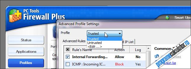 PC Tools Firewall Plus Profile