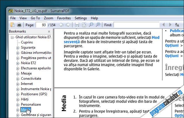 SumatraPDF - cititor de documente PDF