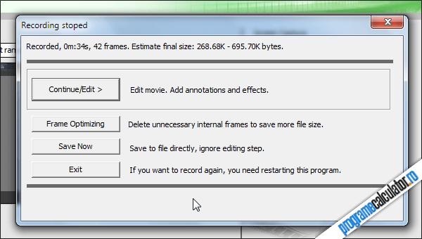 editare inregistrare