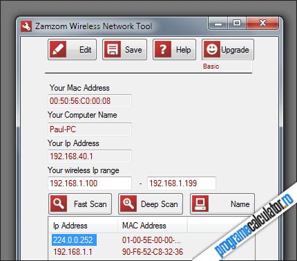 program de detectat intrusii reteaua wireless