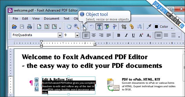 Program de modificat documente PDF