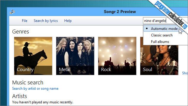 Descarca muzica de pe internet cu Songr
