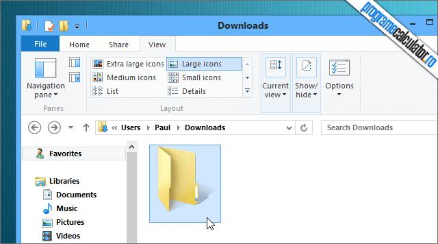 cum faci un folder fara nume