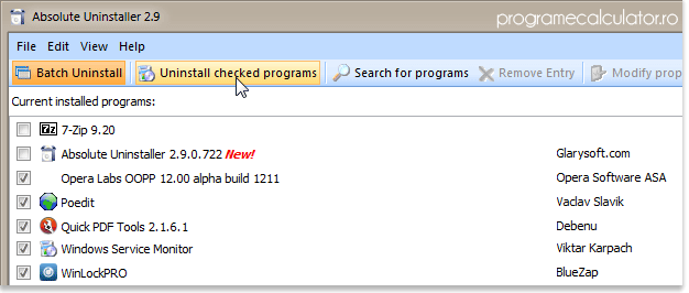 Cum poti dezinstala mai multe programe deodata