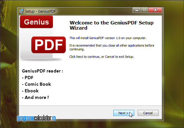 GeniusPDF: cititor de documente PDF