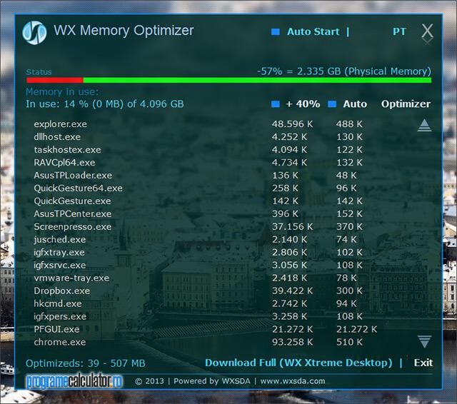 WX Memory Optimizer