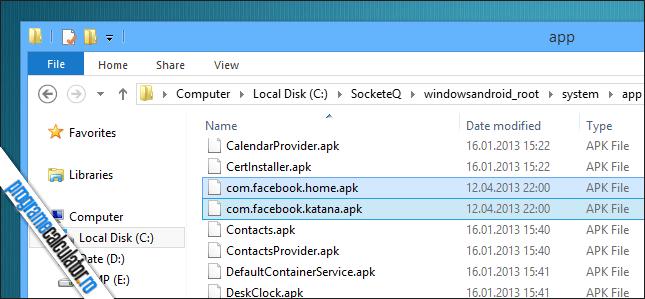 instalare aplicatii WindowsAndroid