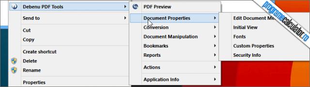 instrumente pdf meniul contextual