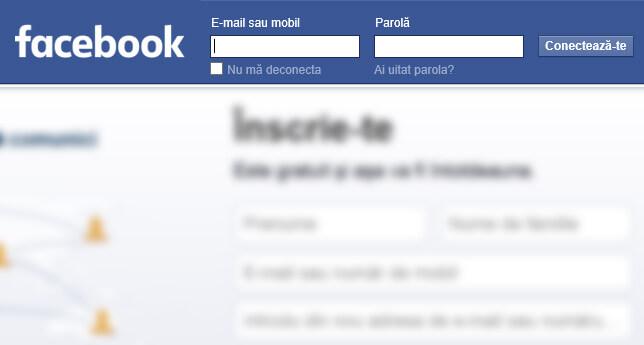 autentificarea in contul facebook pentru a-l putea sterge