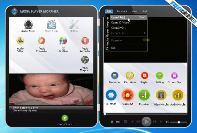 1-AV Media Player Morpher-interfata