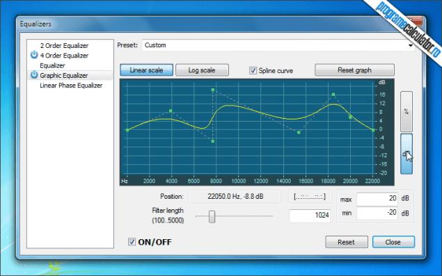 5-AV Media Player Morpher-egalizator-grafic