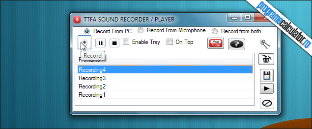 1-TTFA SOUND RECORDER-PLAYER-interfata