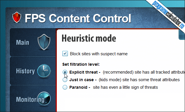 5-FPS Content Control-modul-heuristic