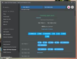 NetCrunch - Open TCP Scanner