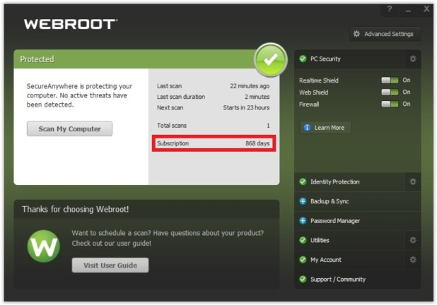 Webroot SecureAnywhere AntiVirus for Gamers - Licență gratuită