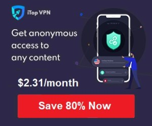 iTop VPN - 80% OFF (1-Year + Extra 1-Year)