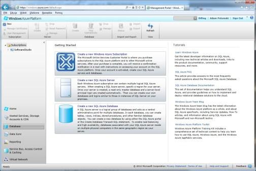 windows-azure-database