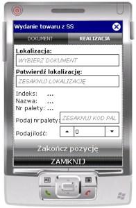 Ekran transakcji ESM_WZ_SS