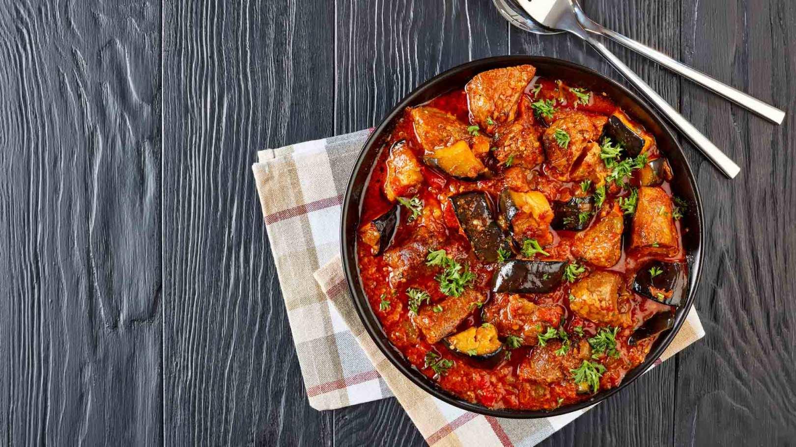 Aubergines à la sauce tomates et basilic