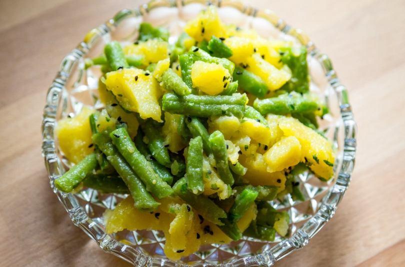 Méli-mélo pomme de terre et haricots verts