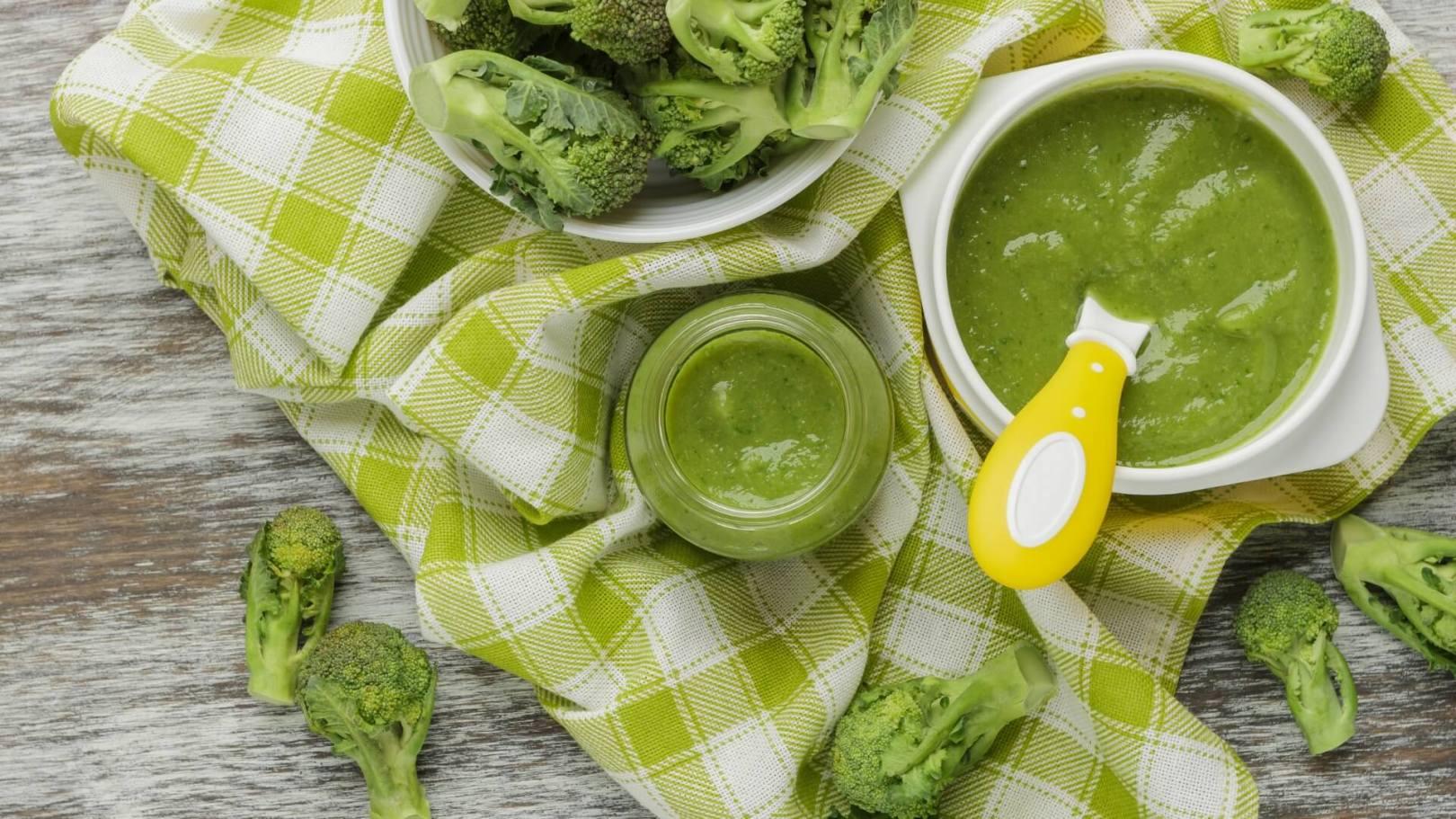 Purée de brocolis et pommes de terre