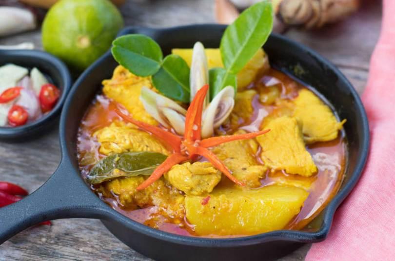 Ragoût de veau aux bananes plantains