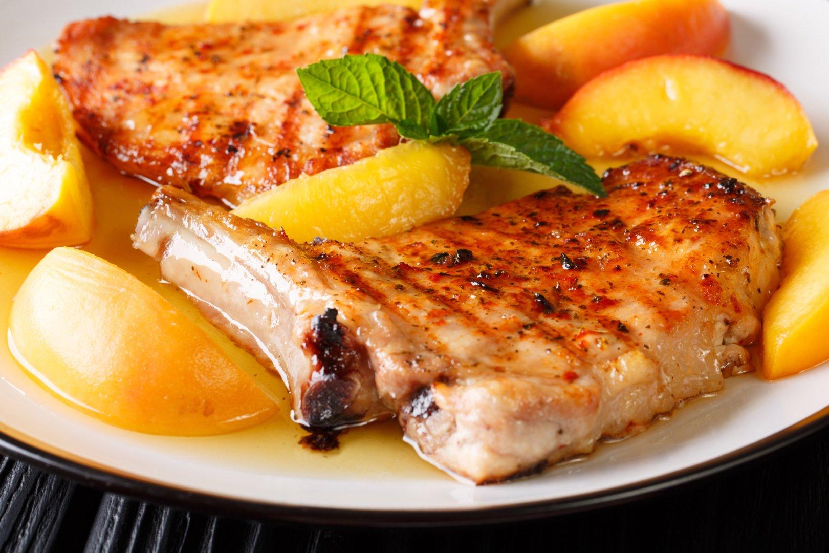 Curry de porc aux pêches