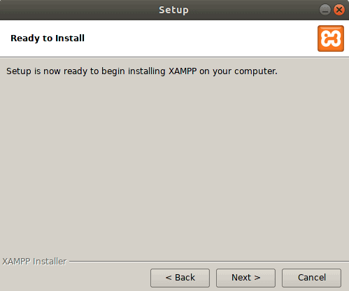 Ready to install xampp