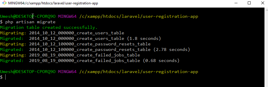 Laravel 6 Migration