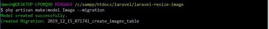 Create model For Resize Image in Laravel 6