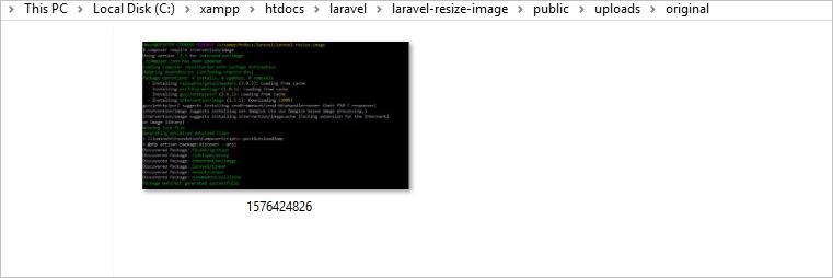 Image without Resize in Laravel 6