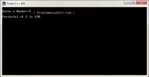 Factorial-Program-C-Output