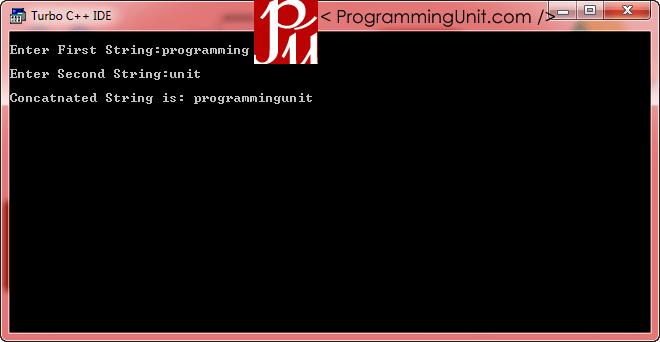 Concatenate Two Strings using Operator Overloading