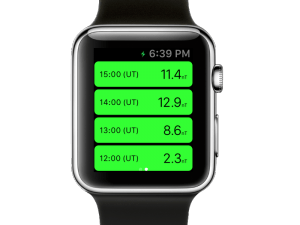 AuroraWatch UK Apple Watch App