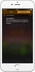 AuroraWatch UK Aurora Borealis Northern Lights iPhone Alerts