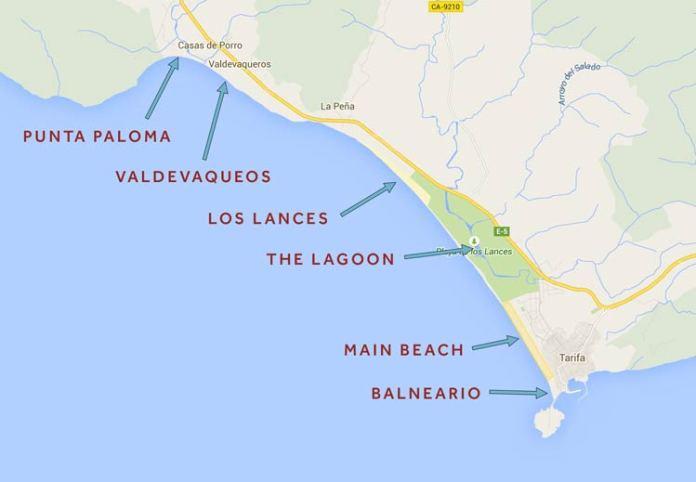 Playas de Tarifa. Fuente, www.progression.me