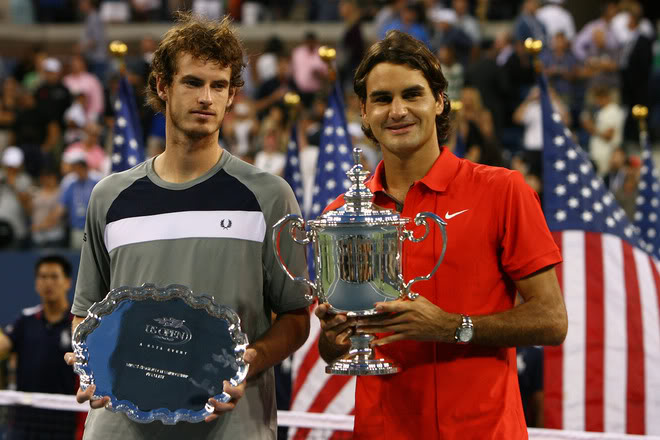 En 2008 à l'US Open, Federer bat Andy Murray 6/2 7/5 6/2