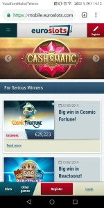 Euroslots Mobile Casino
