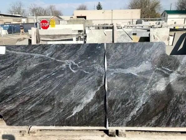 Dark Granite with white granite marbling