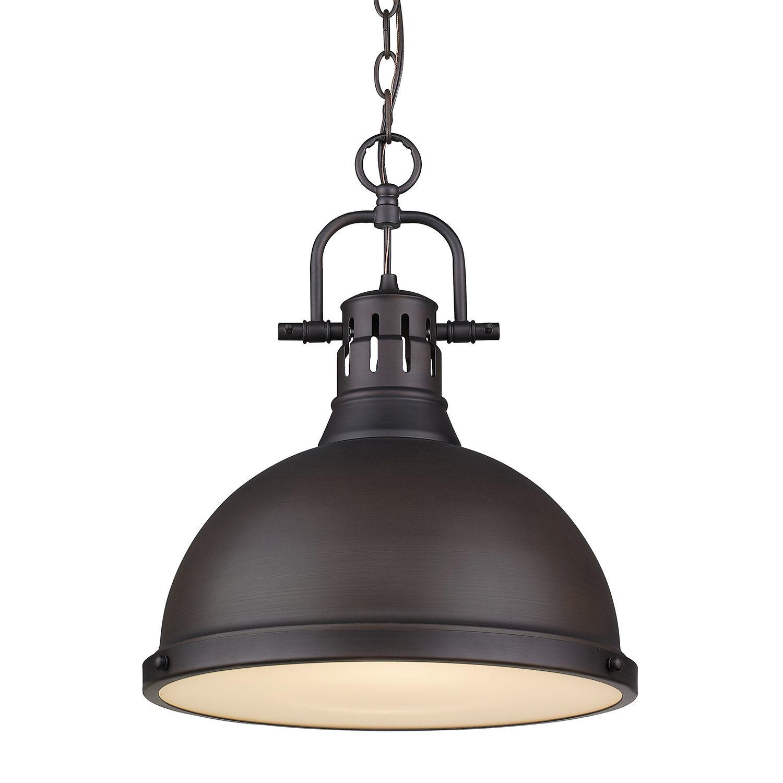 duncan pendant light in rubbed bronze