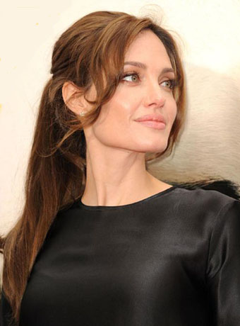 Angelina Jolies Sexy Ponytail Hairstyle