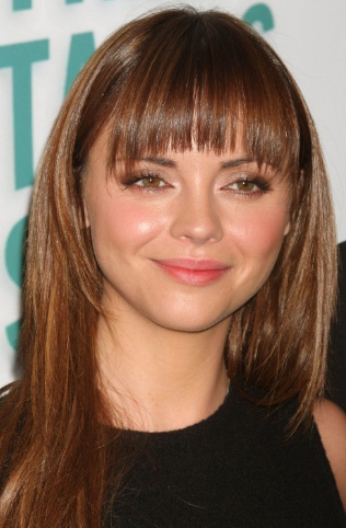 Christina Riccis Long Hairstyle With Bangs